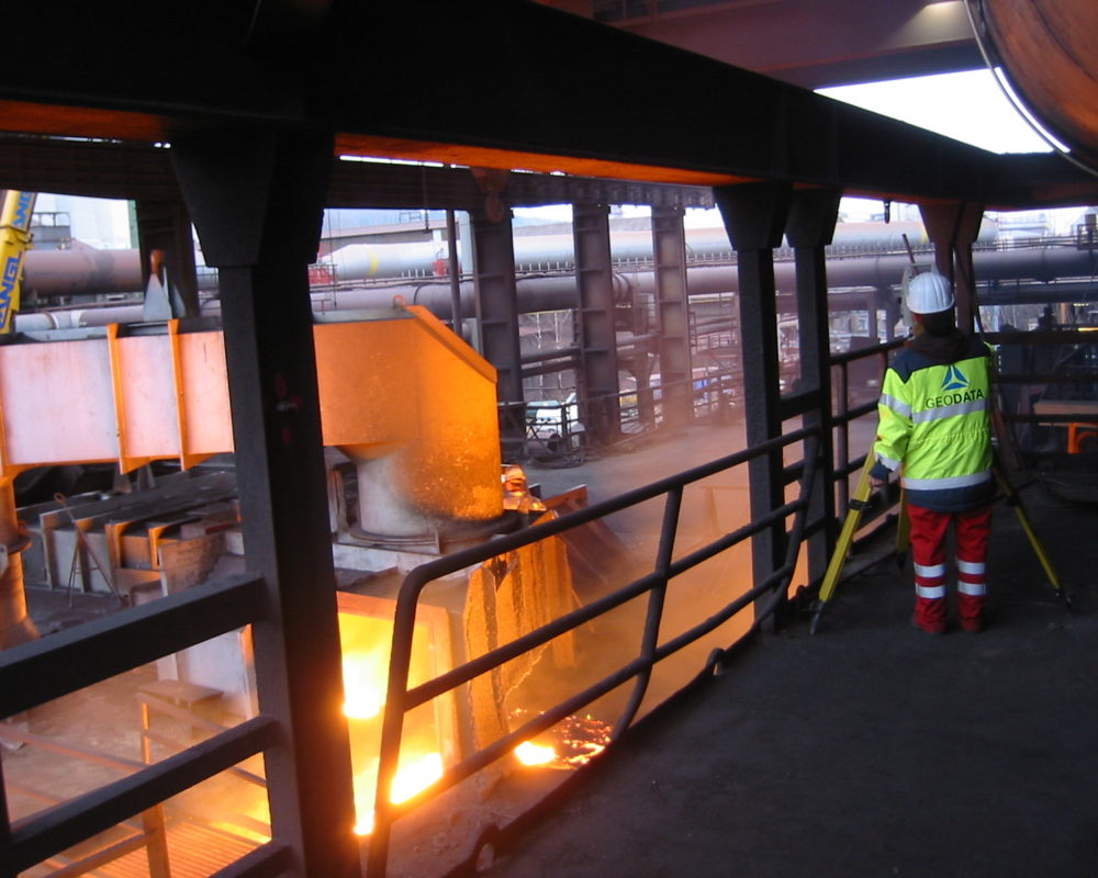 Surveying work in the steelworks