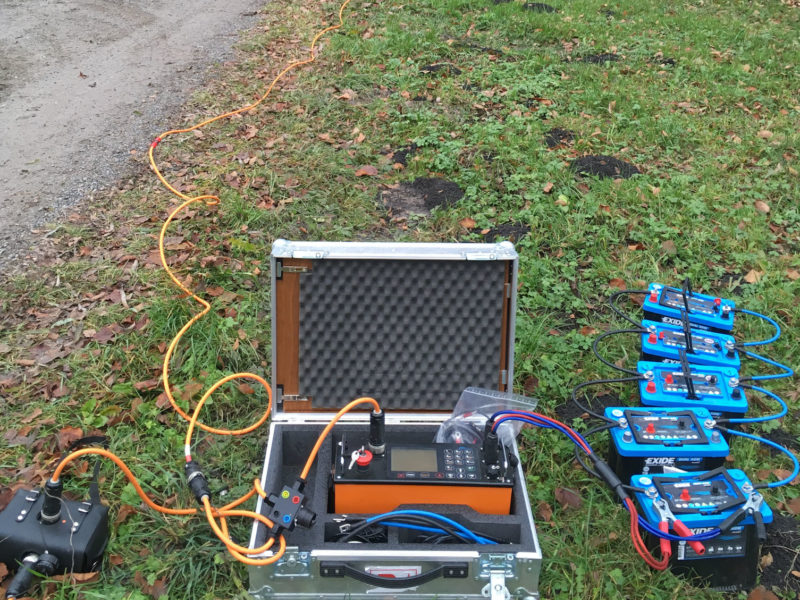 Measuring equipment for geoelectrics