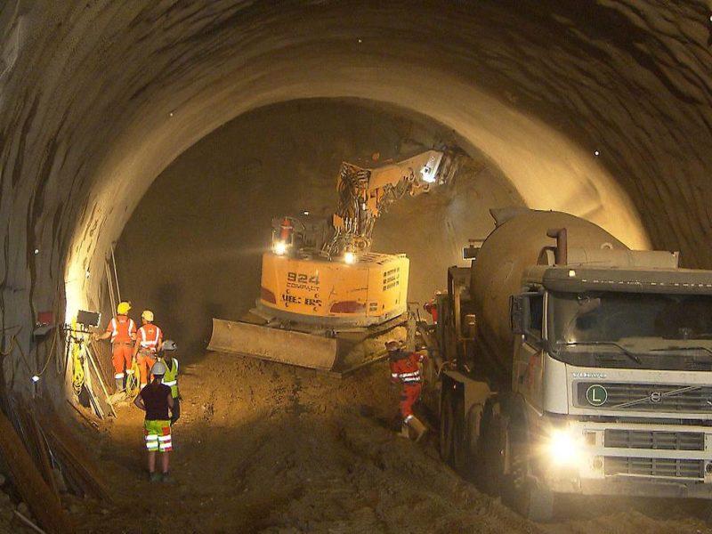 Baggervortrieb im Tunnel<br /> © ORF